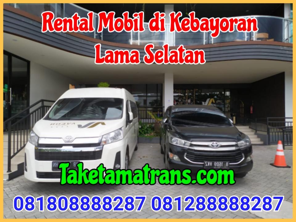 Rental Mobil di Kebayoran Lama selatan
